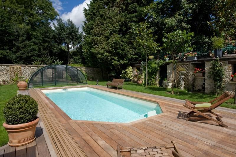 coque polyester piscine fond plat lazuli 8 alliance. Black Bedroom Furniture Sets. Home Design Ideas